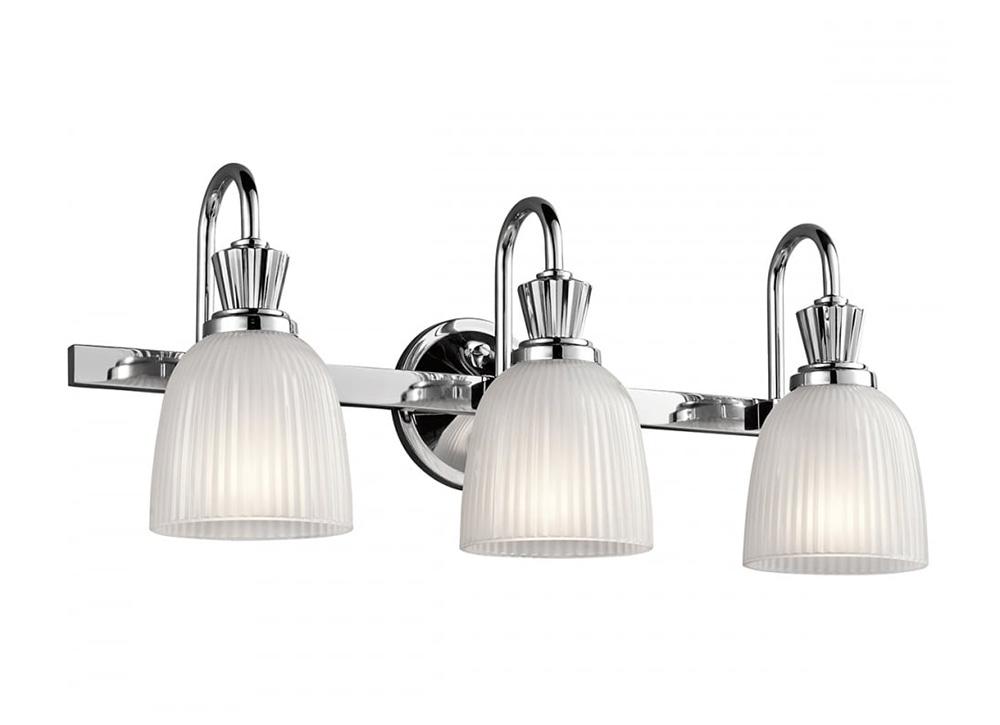Cora 10.5W LED Triple Bathroom Wall Light Polished Chrome / Warm White