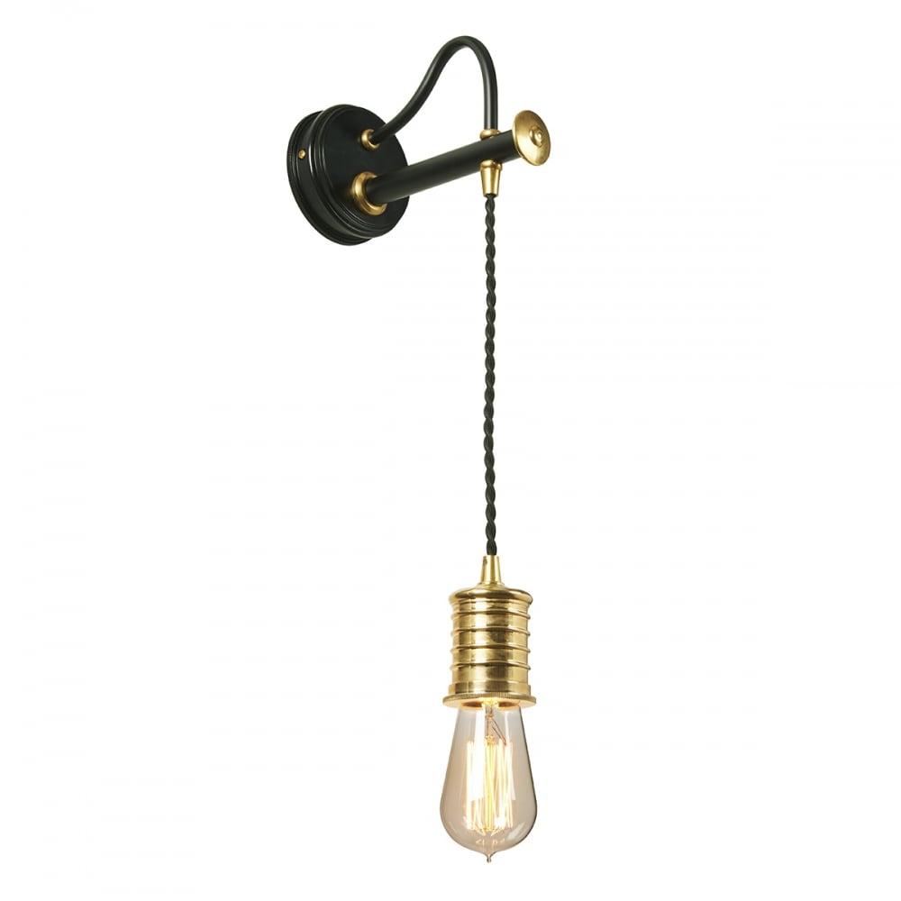 Douille wall light black polished brass douille1 bpb aloadofball Choice Image