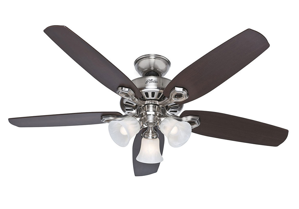 Builder Plus 52 Ac Ceiling Fan Brushed Nickel 50561