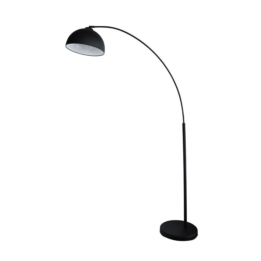 Dome Arc 1 Light Floor Lamp Black Sl91201bk