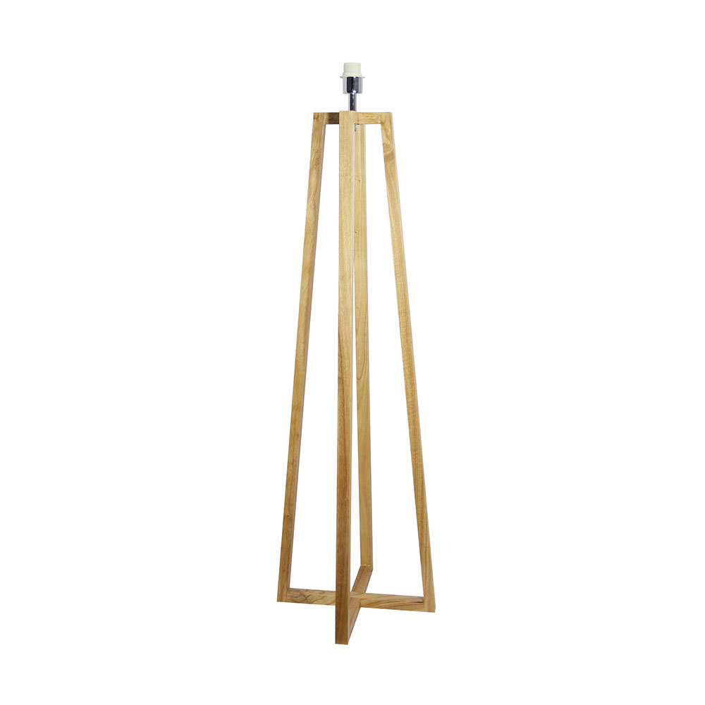 Malmo 1 Light Timber Floor Lamp Base Only Ol93513