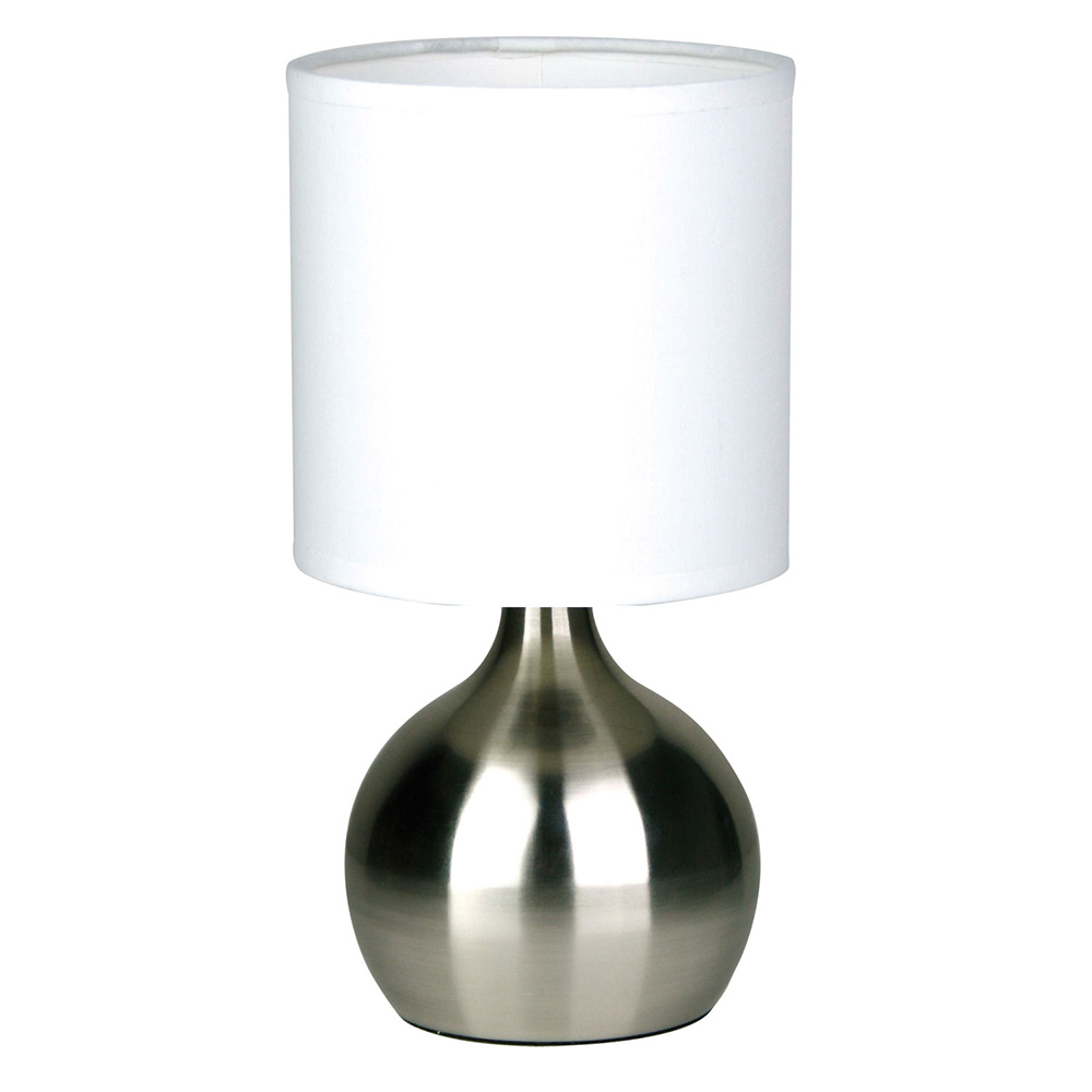 Lotti Touch Table Lamp Brushed Chrome Lf9201bc