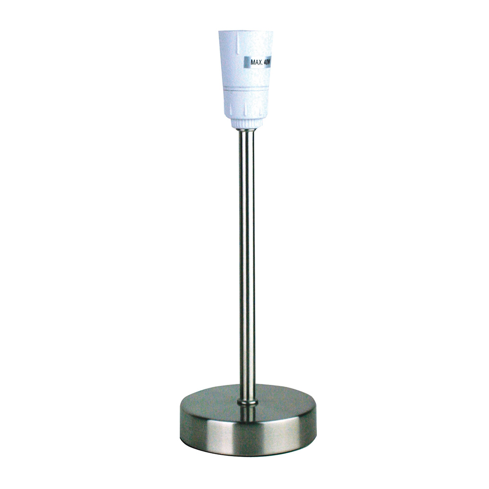 lancet touch table lamp brushed chrome base only ol99466bc. Black Bedroom Furniture Sets. Home Design Ideas