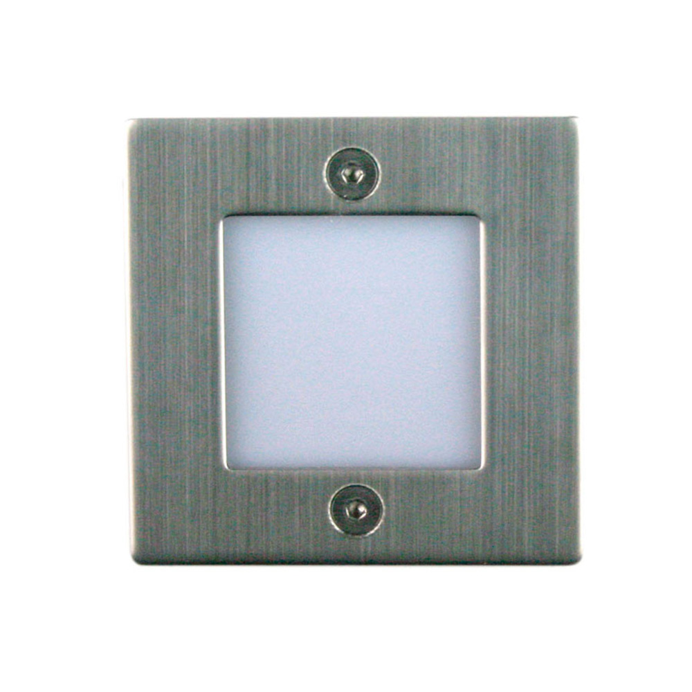 new arrival 506c9 89bc0 Square 1.1 Watt Recessed LED Step Light Stainless Steel / Warm White -