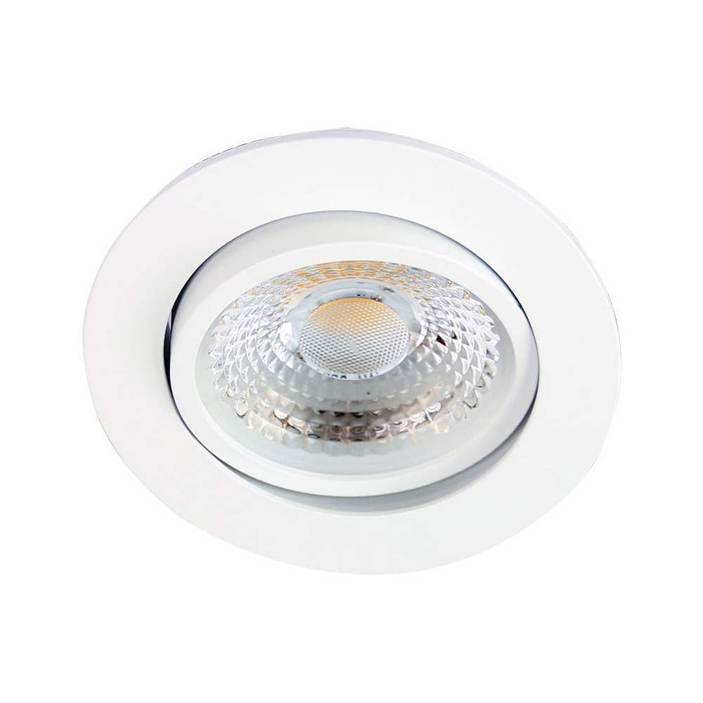 Gamma 13 watt adjustable led downlight white frame cool white ua4714wh