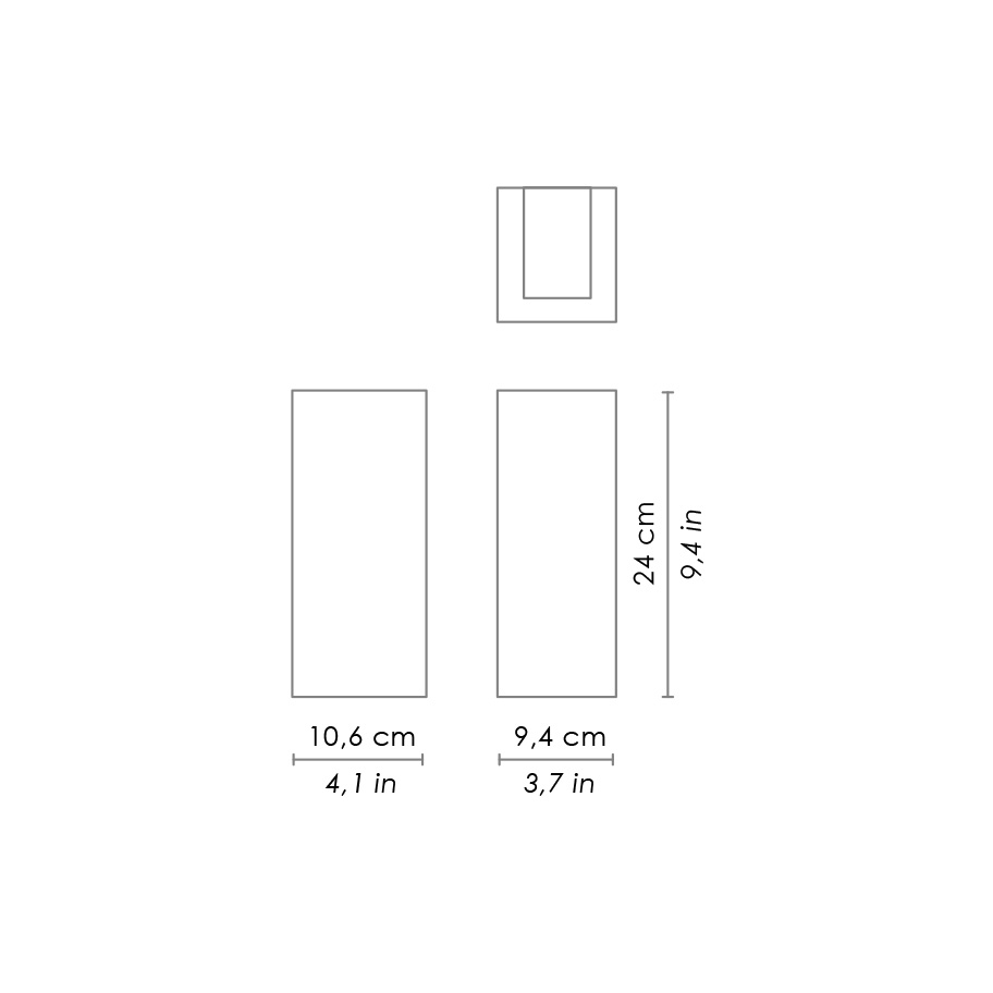 Tunnel 138w 240v Led Square Up Down Wall Pillar Light Warm White Ld Lighting Diagram Special Order Please Allow 4 6 Weeks