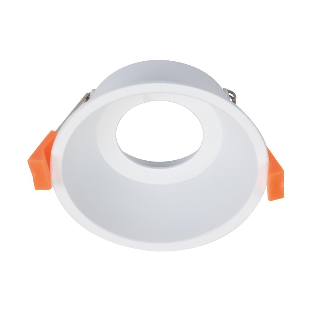Cell 90mm round recessed downlight frame white 27050