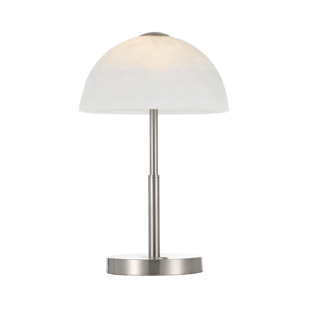 Marla 7 watt dimmable led table lamp nickel warm white marla tl nk wm