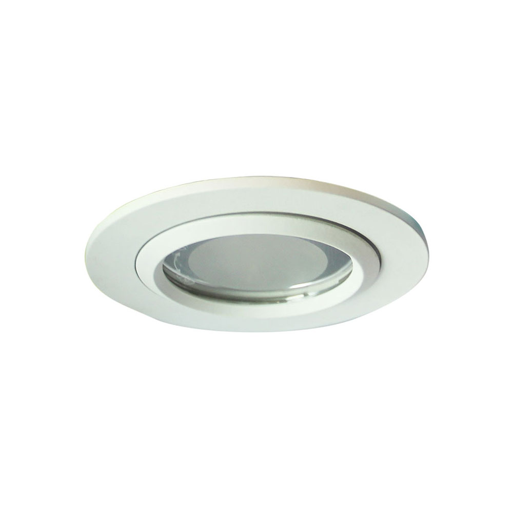 Vida 100 glass covered recessed downlight white lf4583wh
