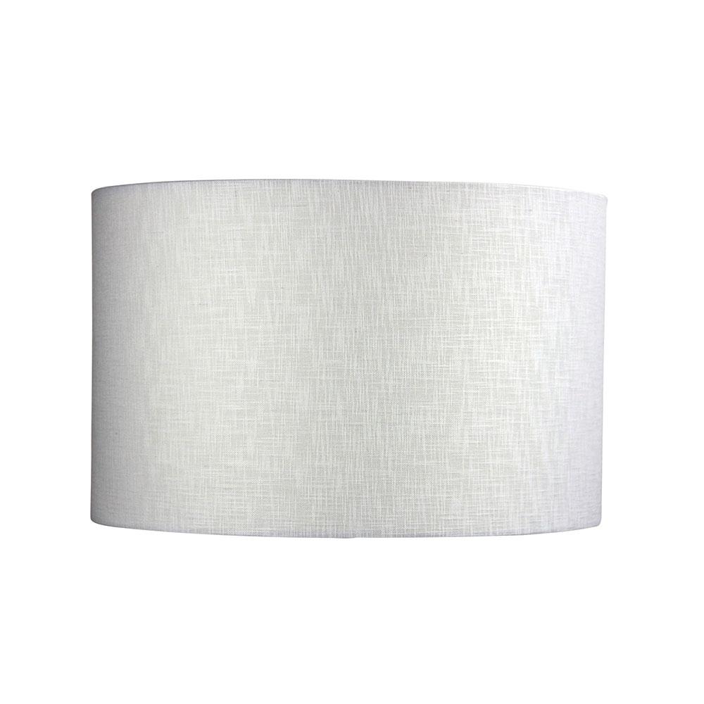Linen 16 Drum Shade White Ol91937, Lamp Shade White Linen Drum