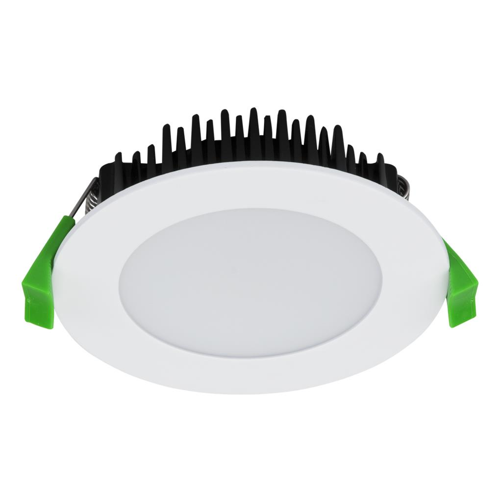 TEK 13 Round 13W Dimmable LED Downlight   Satin White Frame / White LED |  LED Downlights | Downlights | Interior | OnlineLighting.com.au