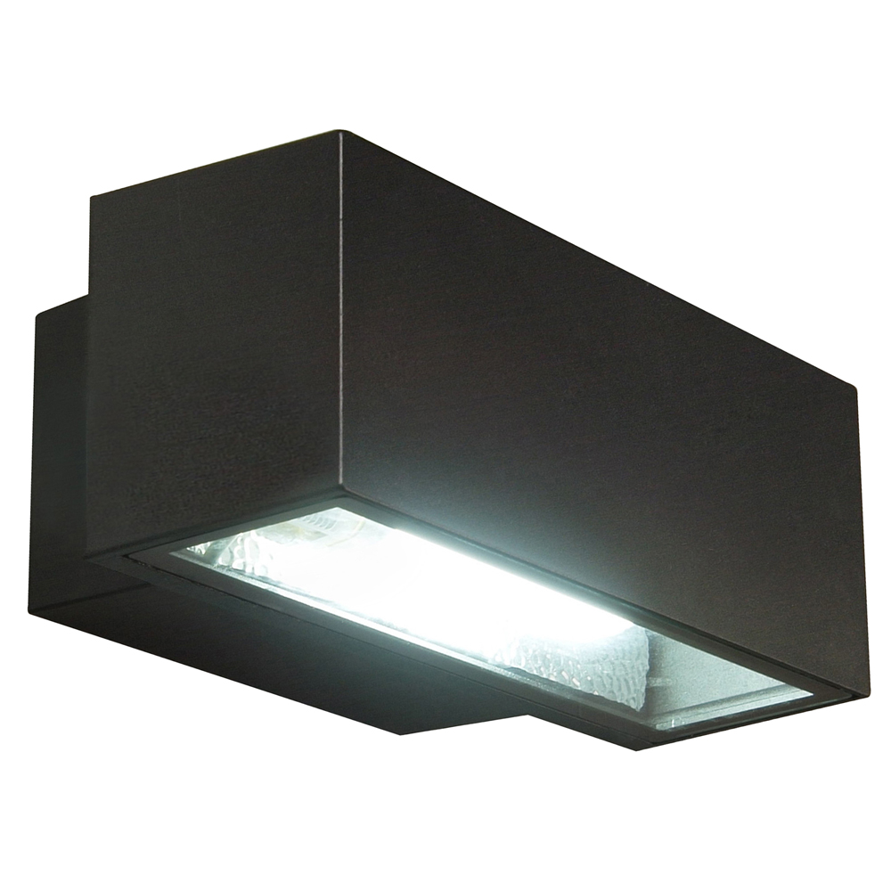 Outside Halogen Wall Lights : Halogen Wall Light Black - EX6027 Online Lighting