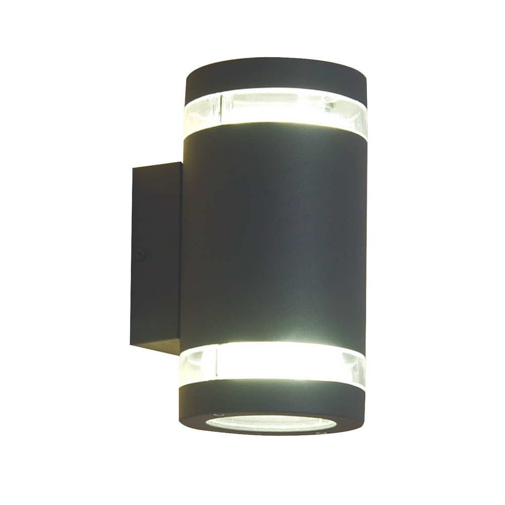 Fluorescent Exterior Wall Lights : Fluorescent Exterior Wall Light Dark Grey Online Lighting