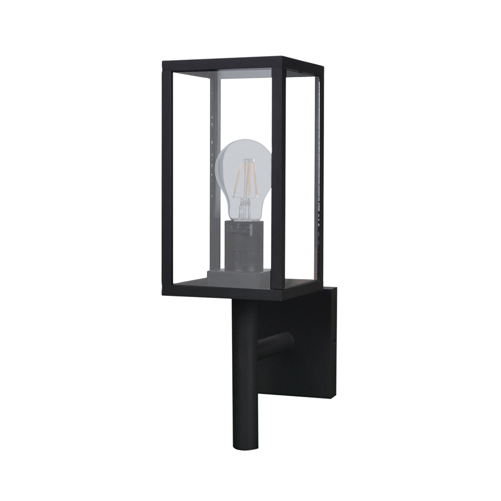 Pandora contemporary outdoor wall light textured black ol7844bk