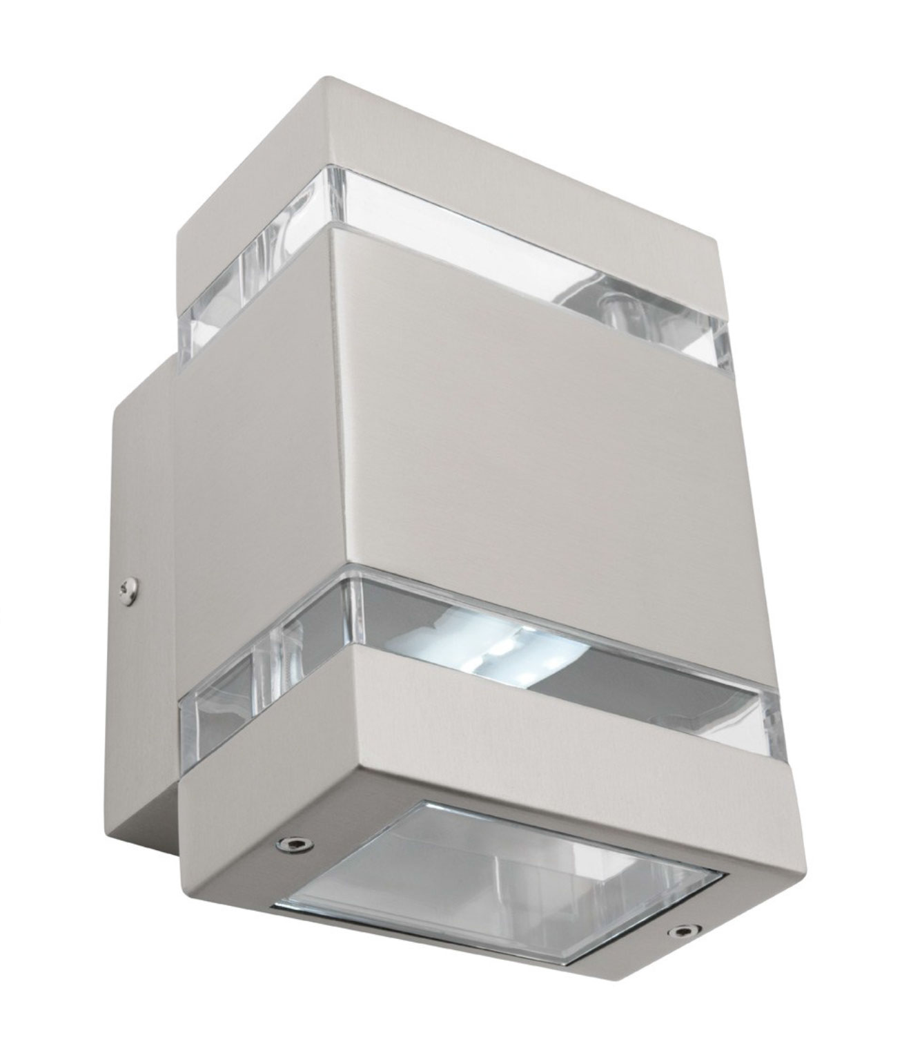 Hedland LED Up/Down Wall Light Stainless Steel | Online Lighting