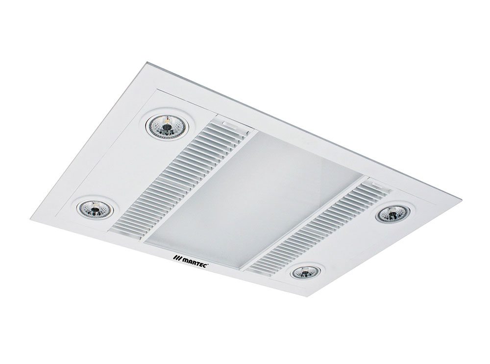 Linear High Extraction 3 In 1 Bathroom Heater / White