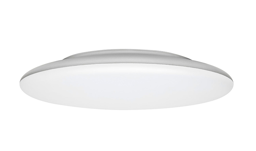 Allora 12w Slimline Dimmable Led Oyster Light Silver Cool White 20