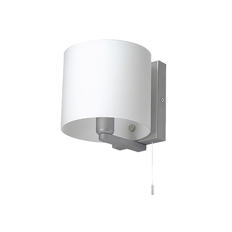 Small Pull Cord Switch Wall Light Satin Chrome