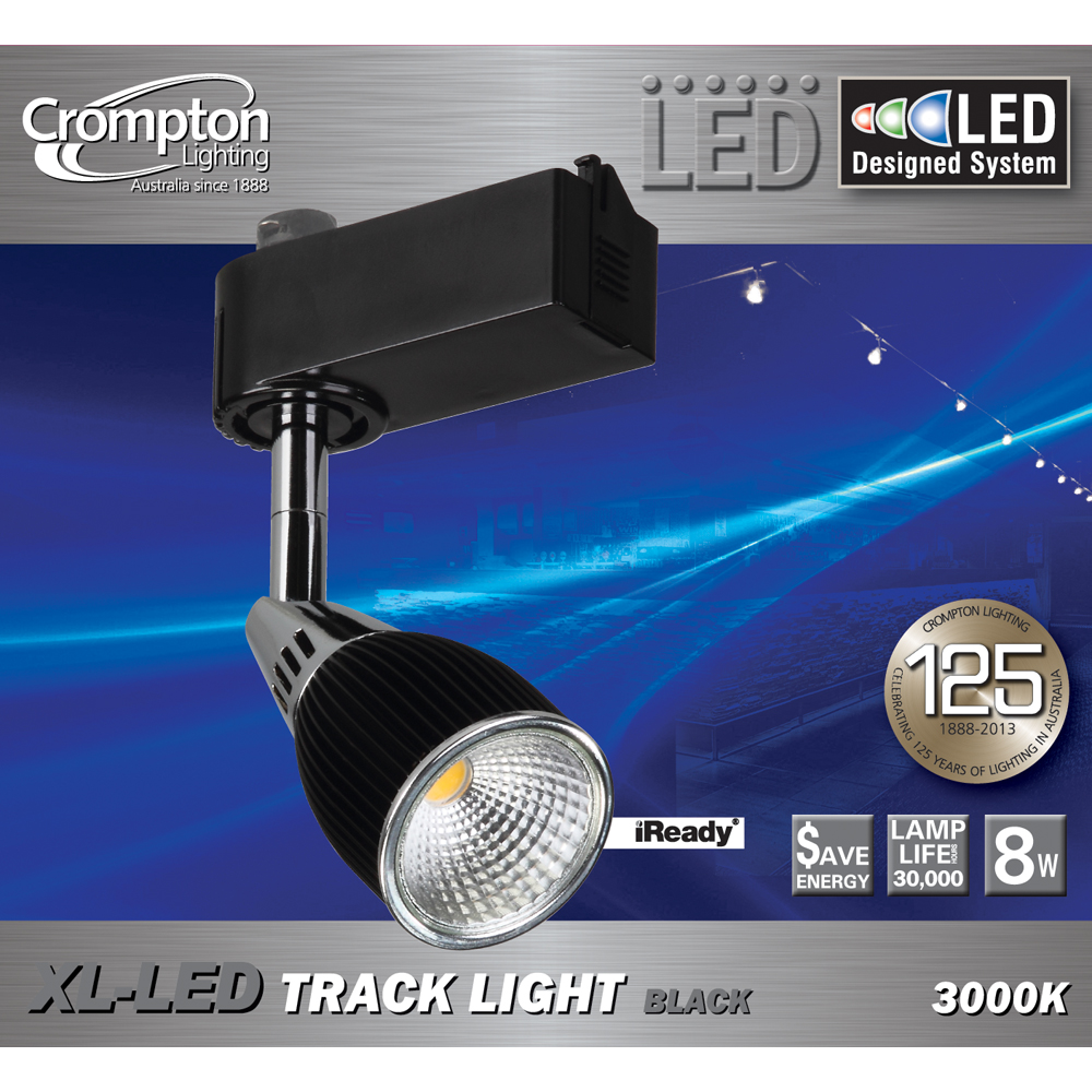 Adjustable 8w led track light black tr8w3kb online lighting mozeypictures Images