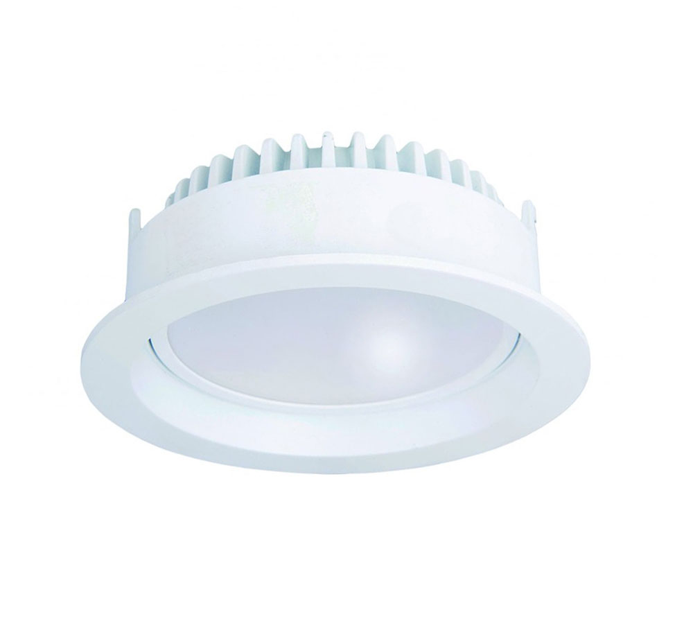 Warm White Online In Australia: Round 13W Adjustable Dimmable LED Downlight White Frame