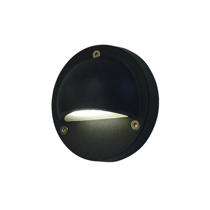 Black Surface Mounted Eyelid Light Warm White 240v Led