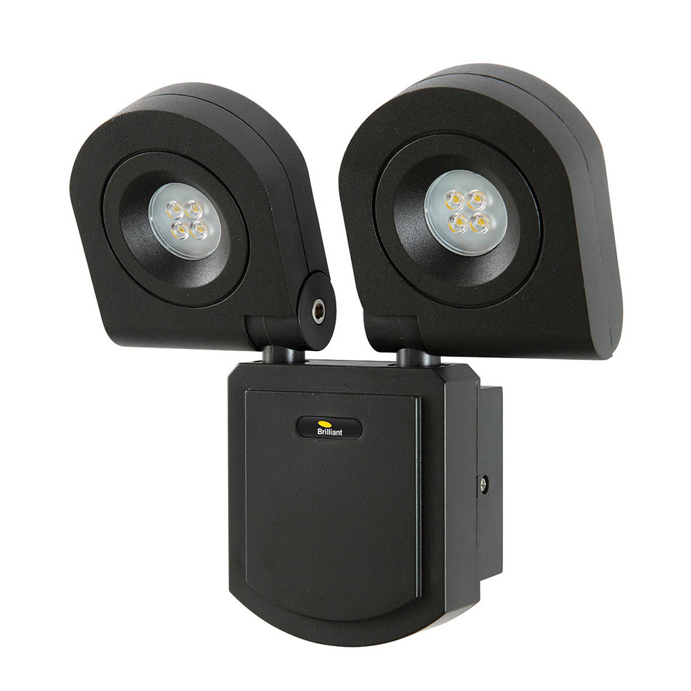 new product 4d236 d381c Arcolux 20W LED Twin Security Light Charcoal / Cool White - 18227/51