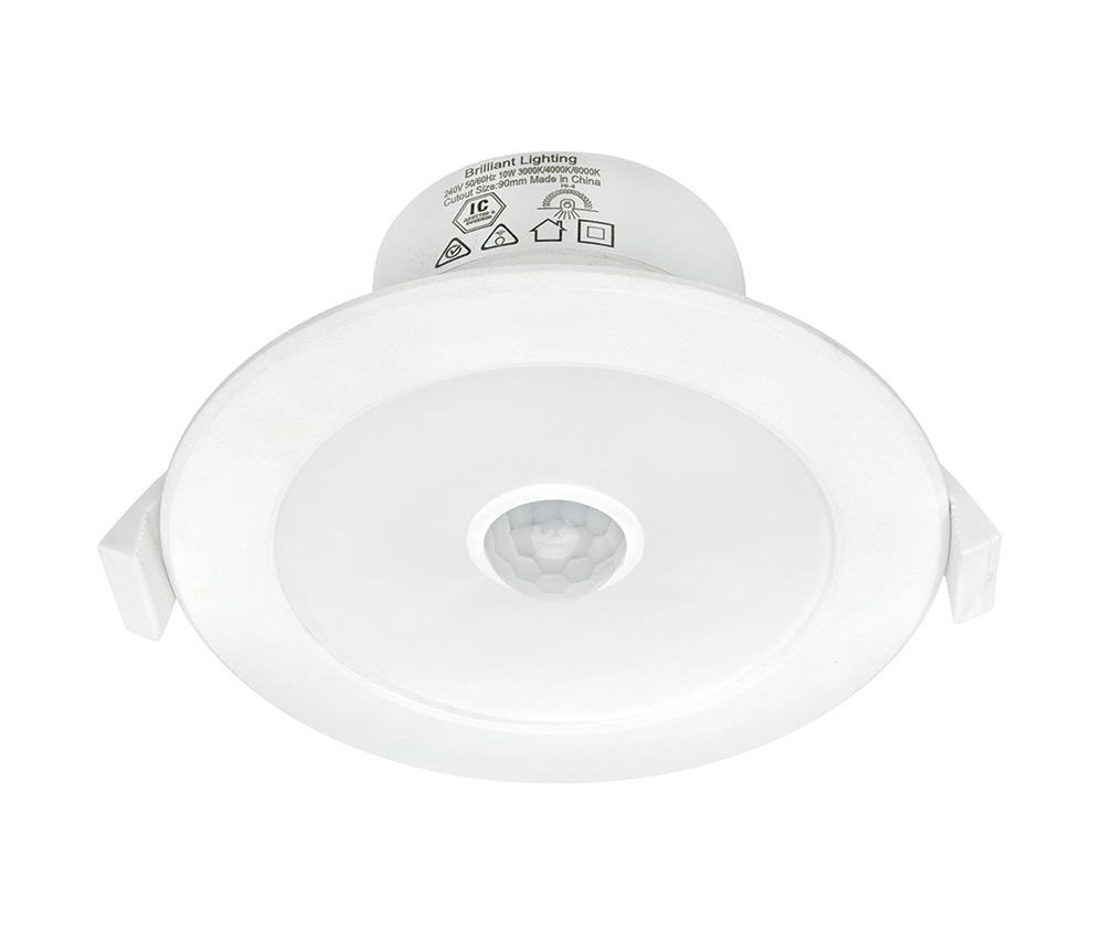 outlet store bf1f2 31ecf Lumascan 9W LED Motion Sensor Downlight White / Tri-Colour - 20214/05