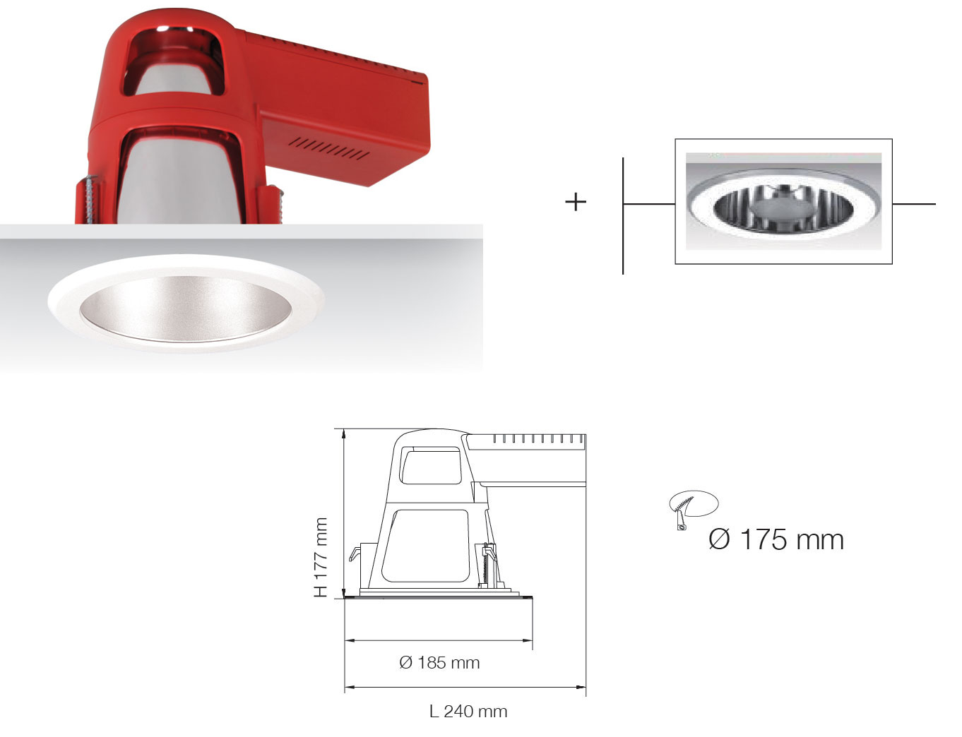 UNI SERIES S9665SF/RG 5 Inch CFL Downlights (Dimmable)