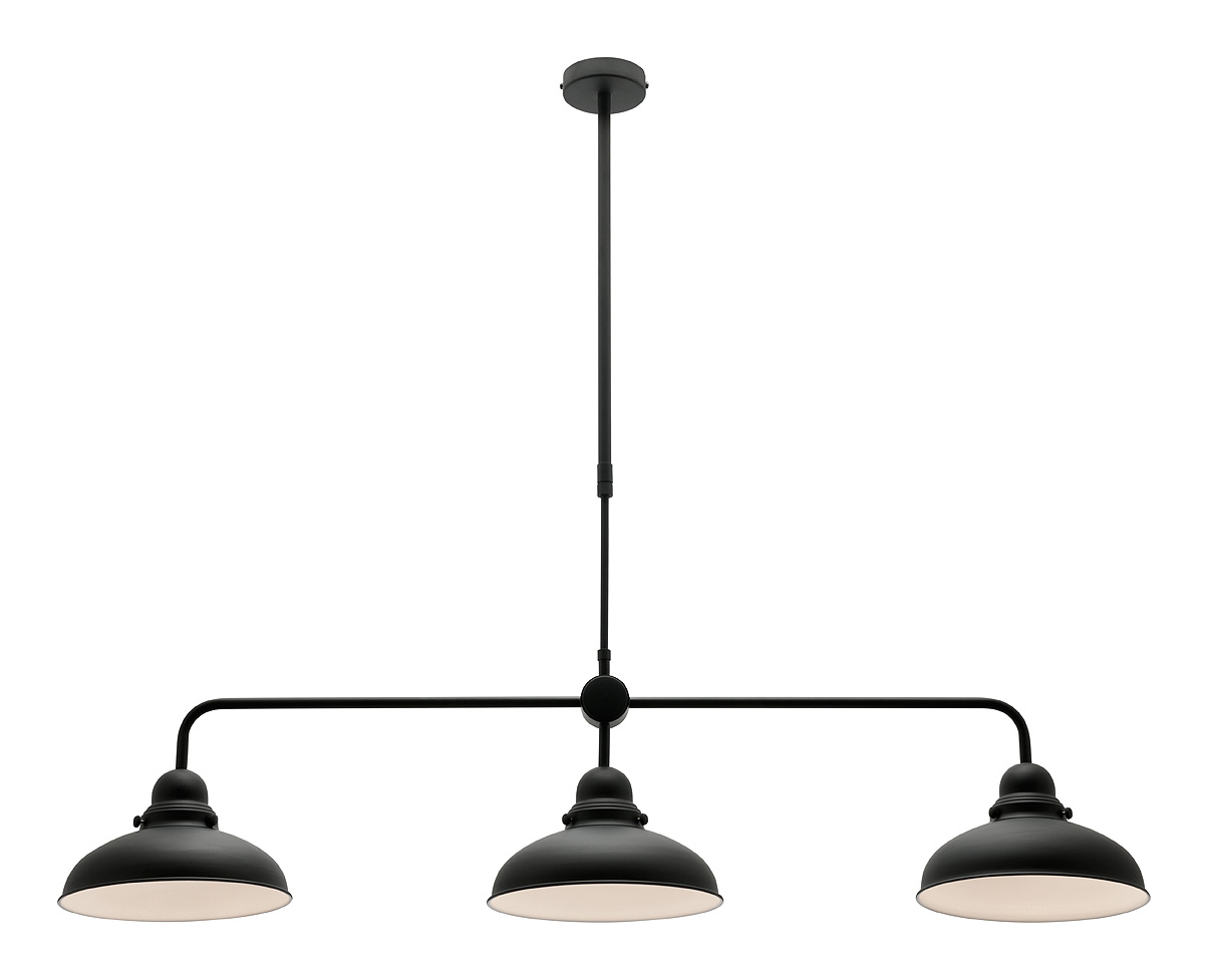 Verona 3 light pendant black a43433 online lighting mozeypictures Gallery