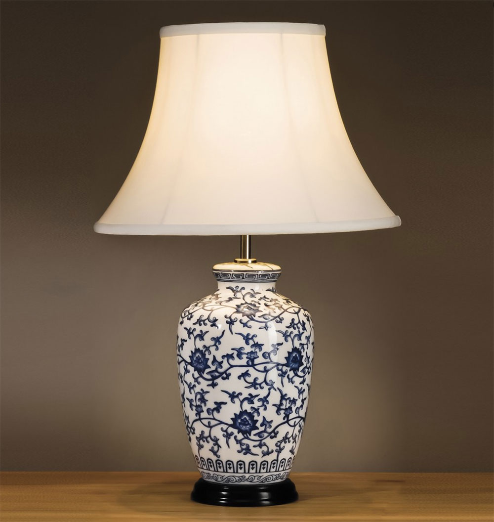Blue ginger jar table lamp geotapseo Choice Image