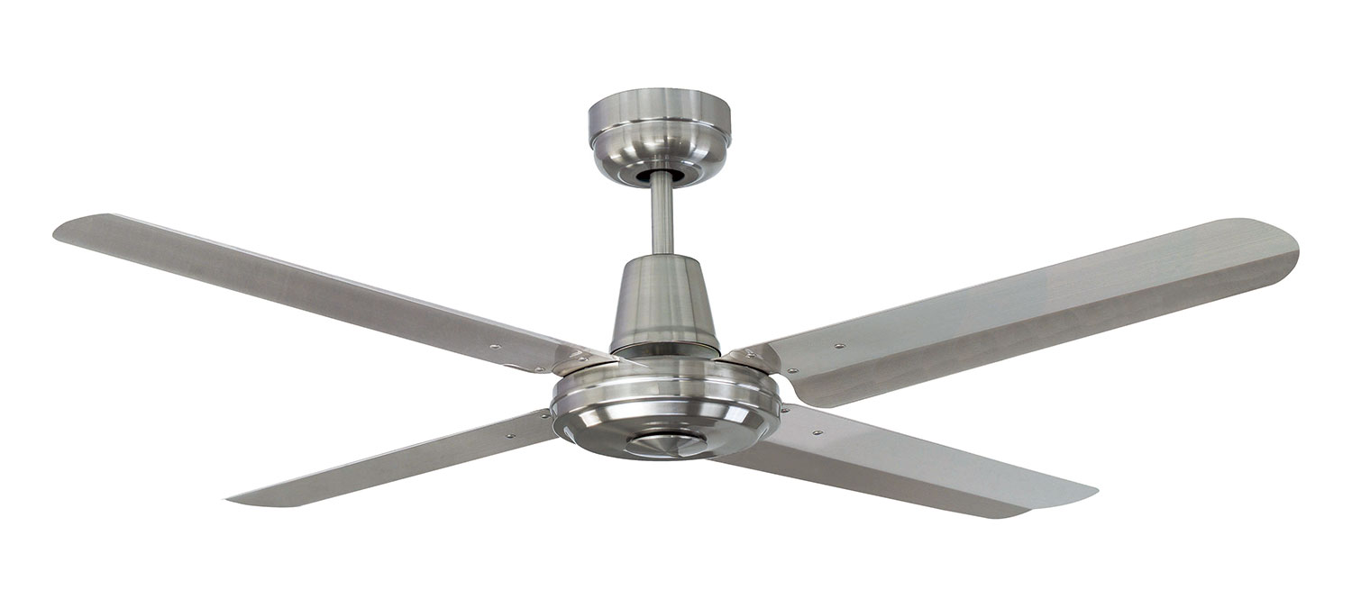 Swift Metal Brushed Chrome With Steel Ceiling Fan 4 Blade