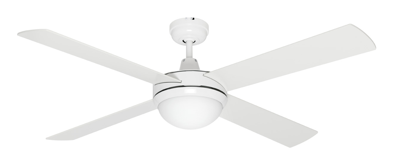 Caprice Ceiling Fan With Light Led White 52 Quot