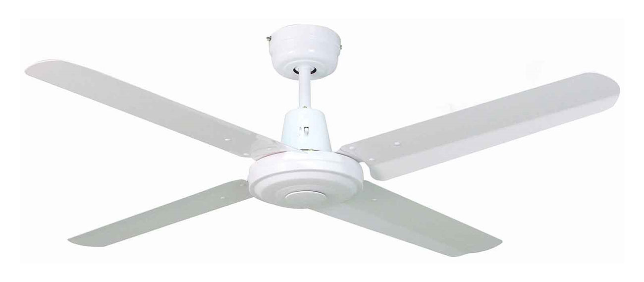 Swift metal white ceiling fan 4 blade 1400mm 56 online lighting mozeypictures Gallery