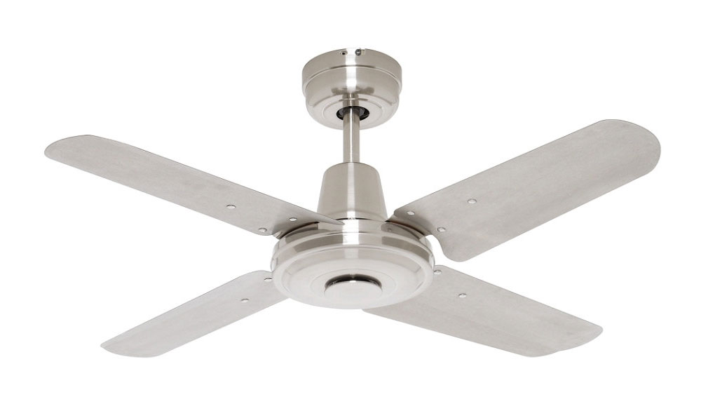 Swift Metal Brushed Chrome Ceiling Fan 4 Blade 900mm 36 Fc010094bc