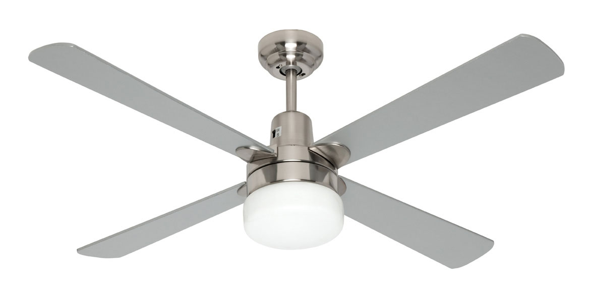 Kimberley Ii 1200mm 48 Quot Ceiling Fan With Light Brushed
