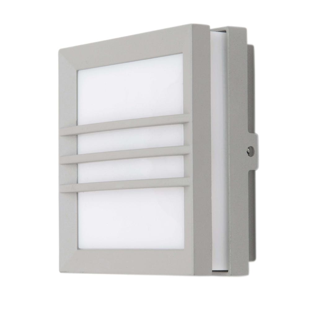 Exterior 11w Square Wall Light Grey Exls3341