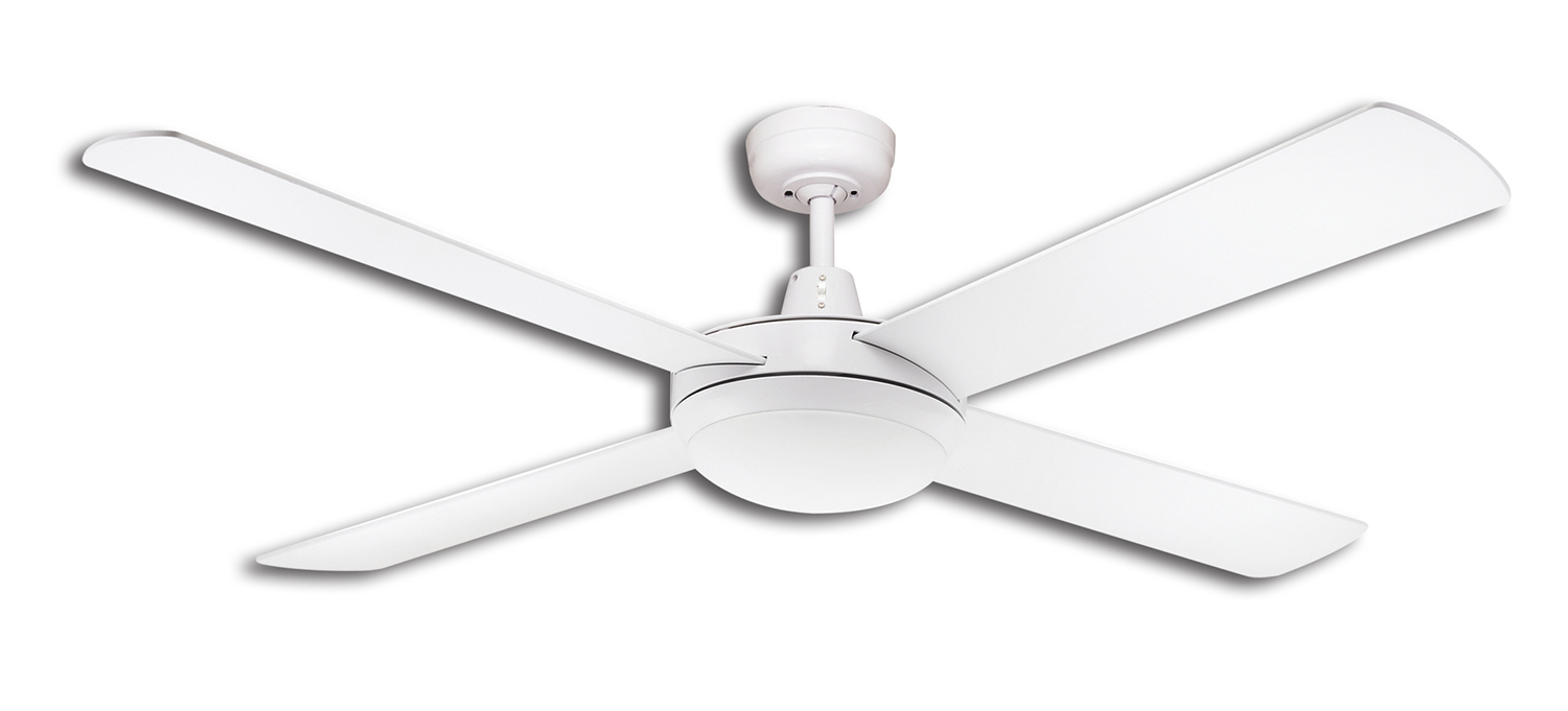 lifestyle 52 1300mm white ceiling fan with 24w dimmable. Black Bedroom Furniture Sets. Home Design Ideas