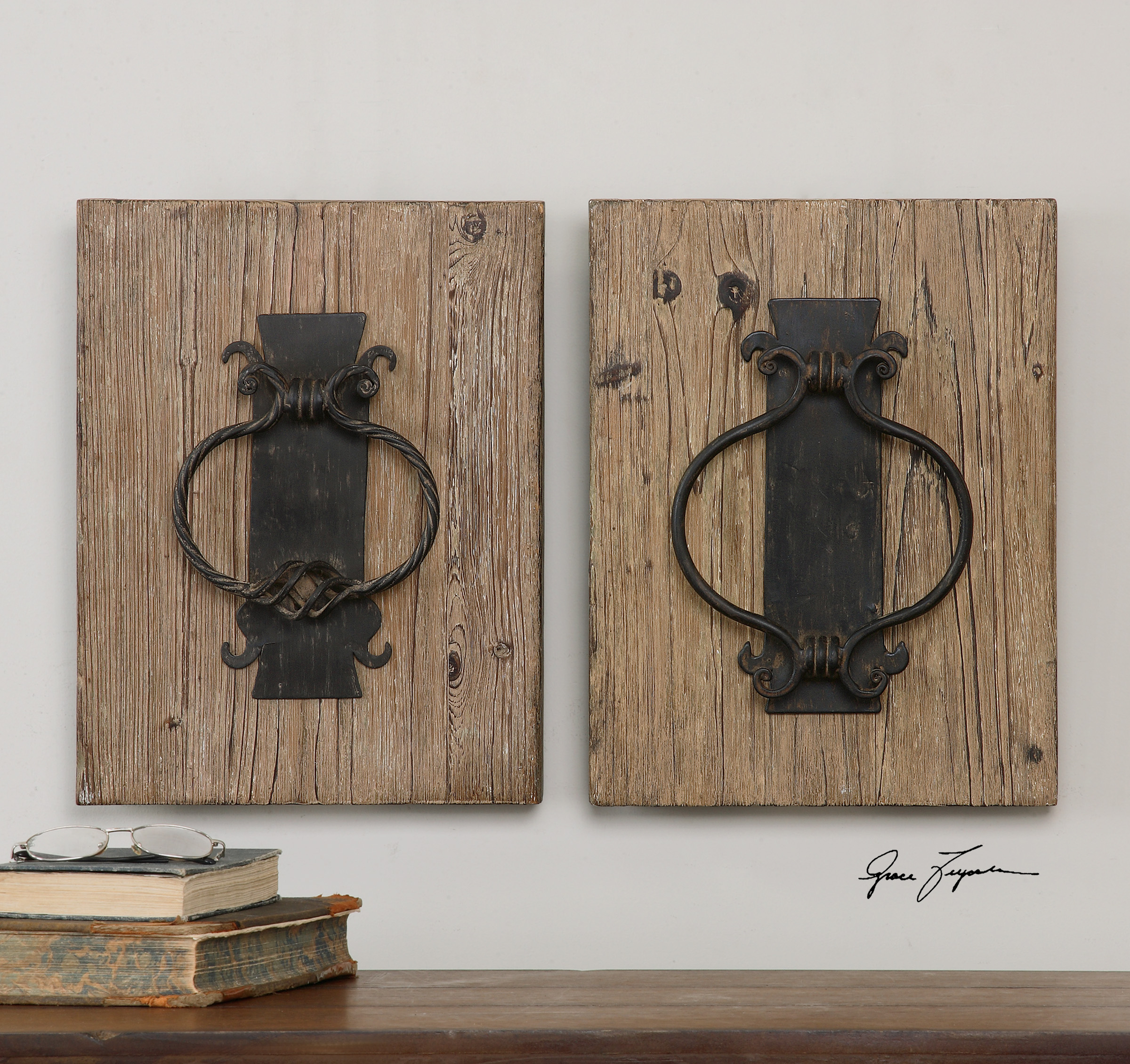 Rustic door knockers wall decor - Rustic wall plaques ...