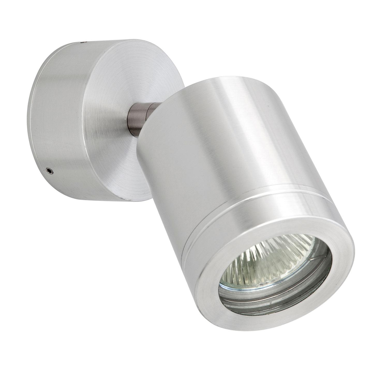 Vista II Adjustable Wall Light Features Round adjustable exterior wall spotlight on a round base ...