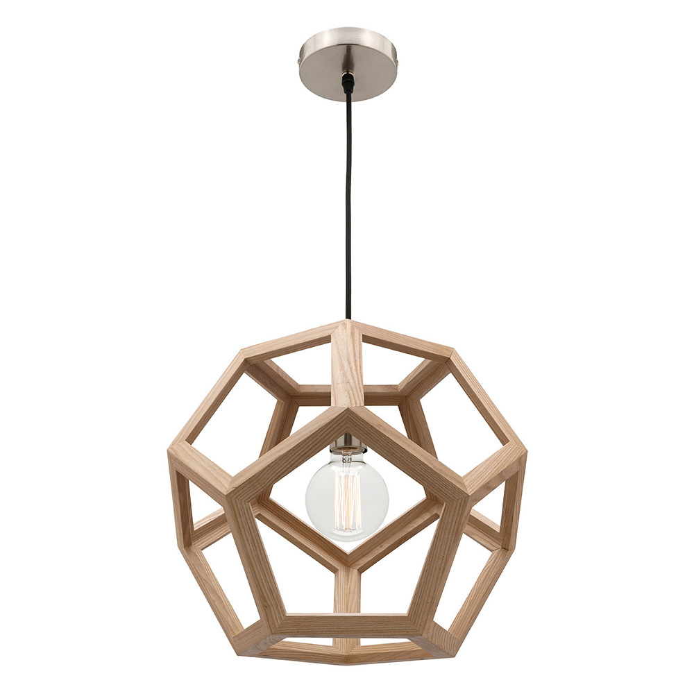 peeta small pendant light natural timber hexagon mg4231s