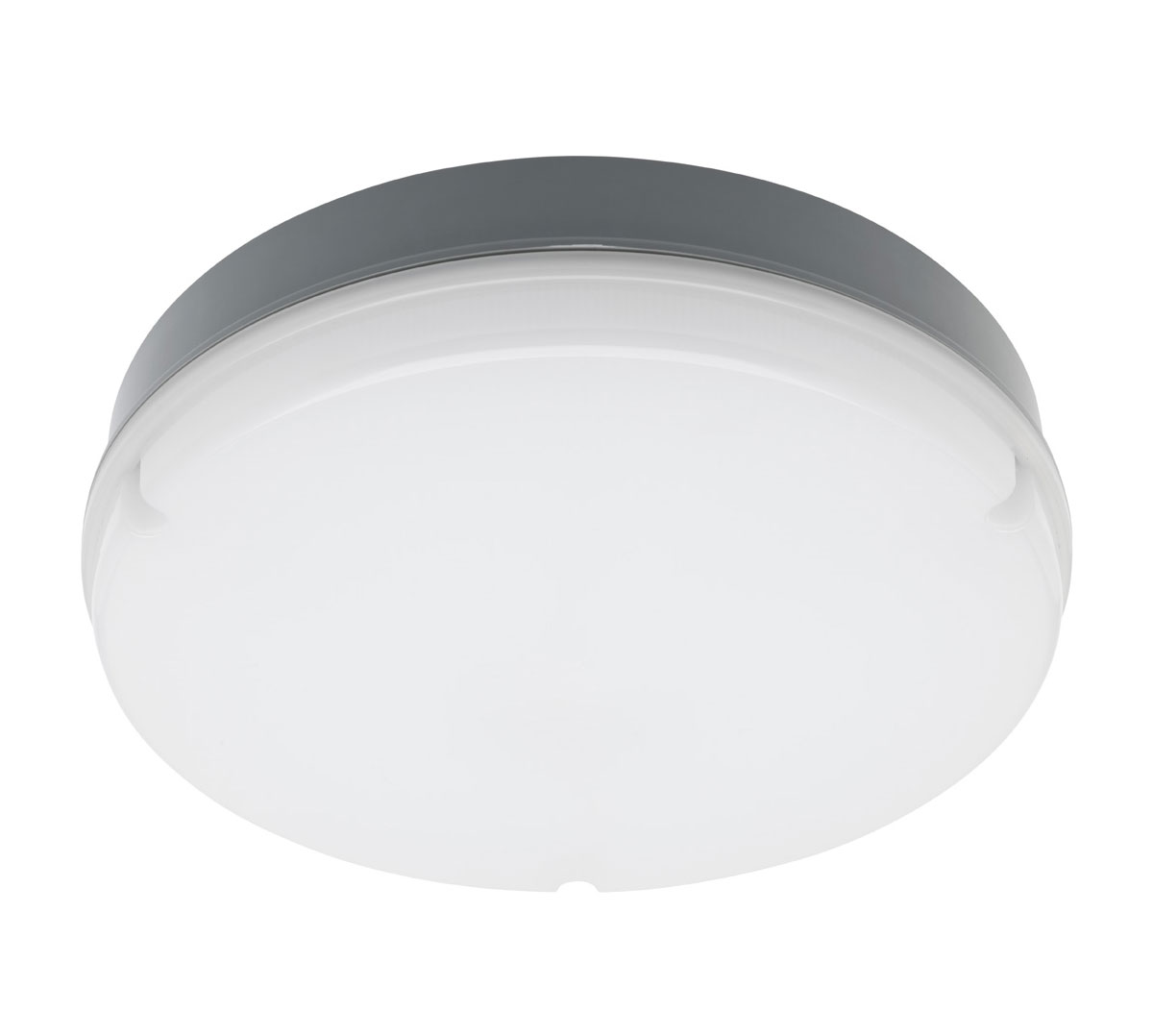 Swell 20w Led Ceiling Flush Oyster Grey Finish Cool