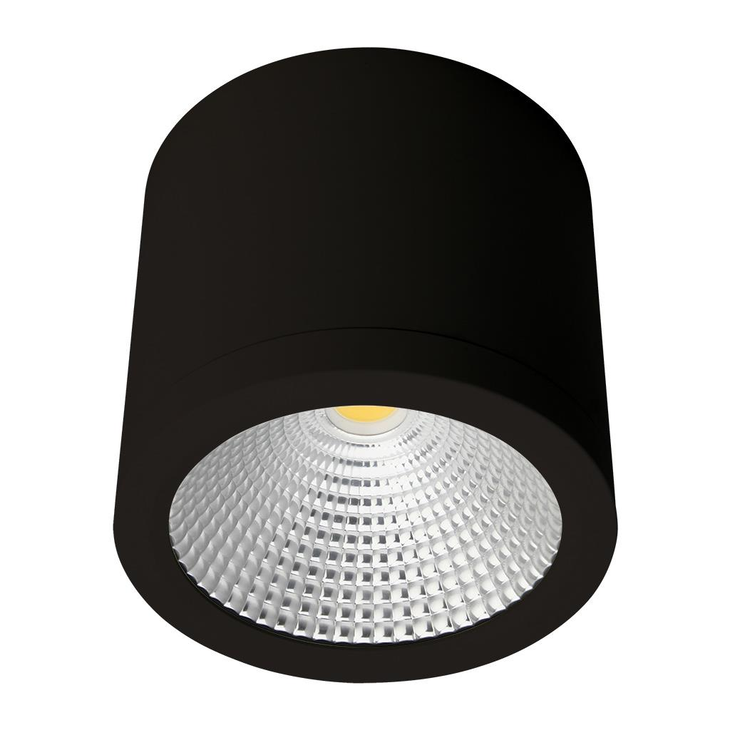 neo 25 watt dimmable surface mounted led downlight black. Black Bedroom Furniture Sets. Home Design Ideas