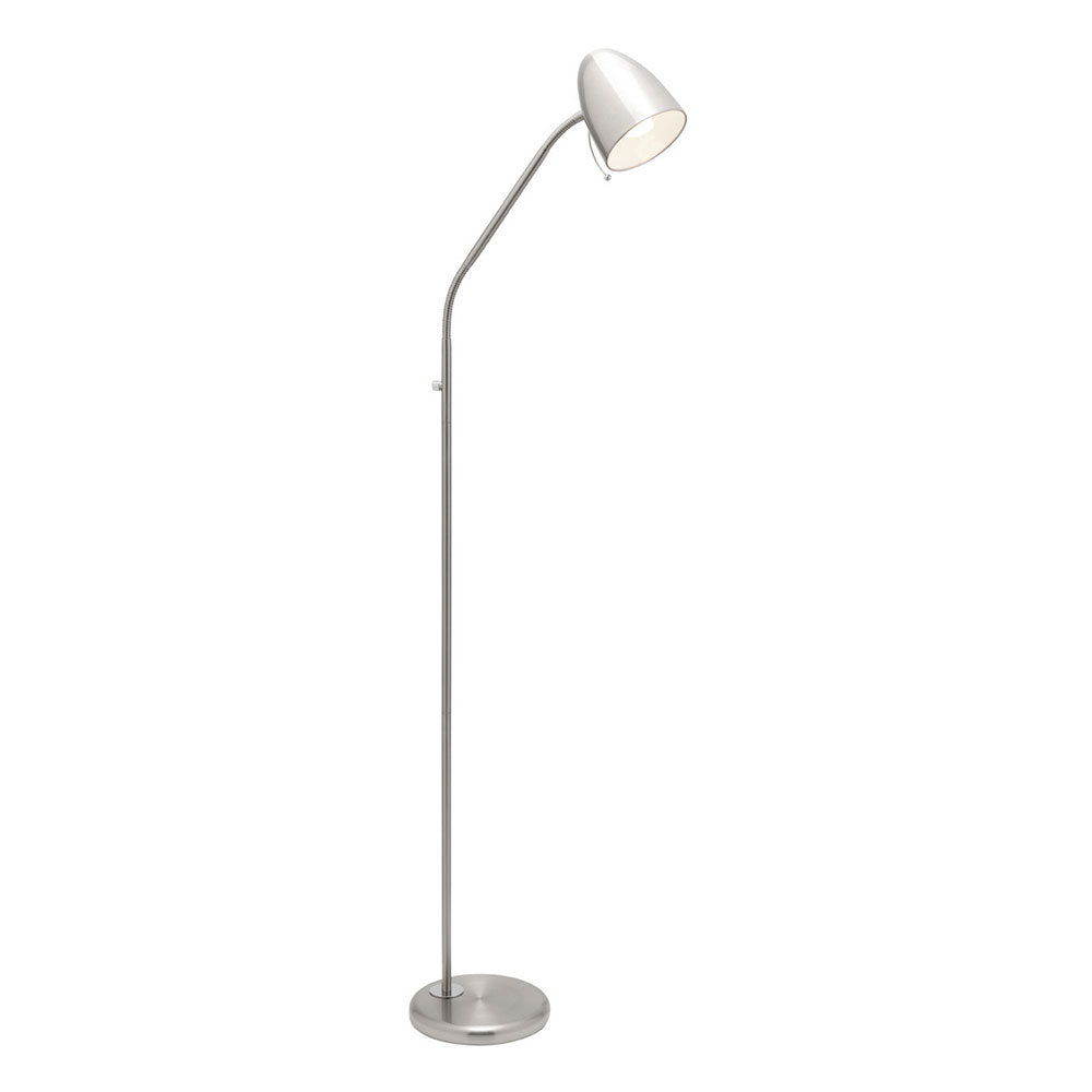 Sara floor lamp brushed chrome a13021bc online lighting aloadofball Gallery