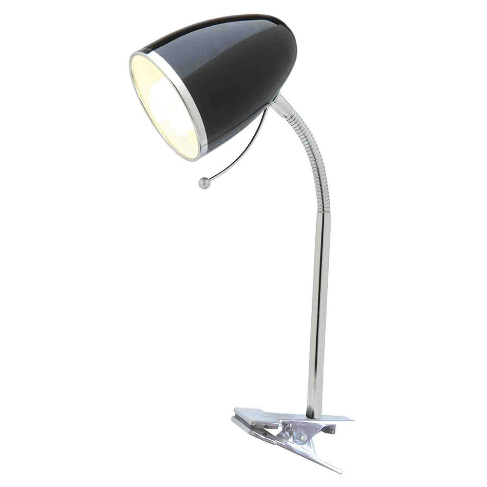 Sara Clamp Lamp Black - A13041BLK | Online Lighting
