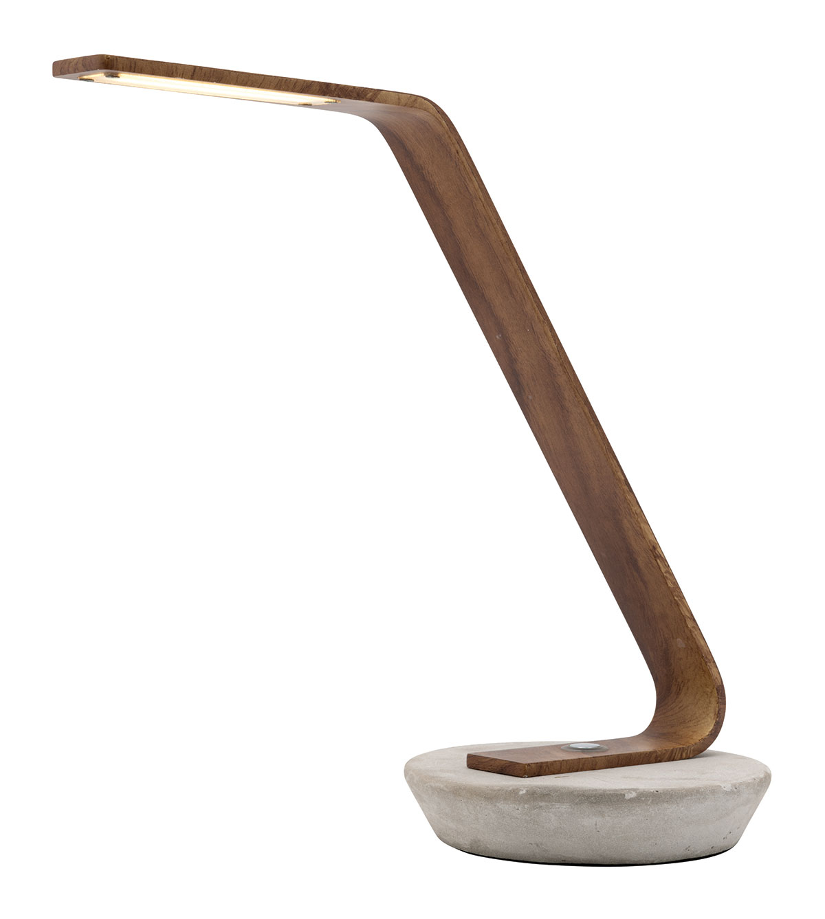 Harrison LED Touch Desk Lamp Timber w/ Concrete | Online Lighting:,Lighting