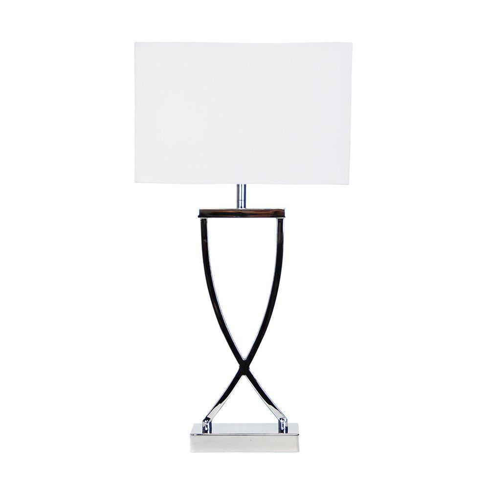 Chi Stylish Bedside Lamp Chrome Ol93801ch