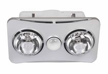 Ardene Duo Bathroom Heater/Light/Exhaust Fan 3-in-1 Silver - BS122CSWSL
