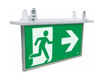 Blade LED Recessed Exit Sign With Emergency Downlight White - 19878/05