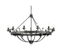 Windsor 12 Light Chandelier Graphite - WINDSOR12 GR