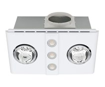 Magnus Duo LED 3-in-1 Bathroom Mate Heat/Light/Exhaust Fan White - BH142ESWWH